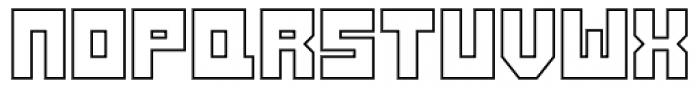 Konstruct Outline Font UPPERCASE