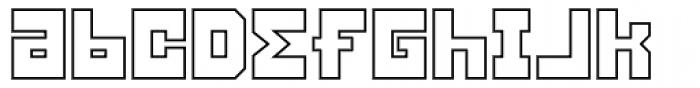 Konstruct Outline Font LOWERCASE