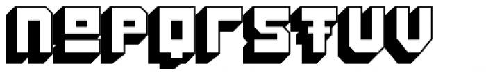 Konstruct Shadow Font LOWERCASE