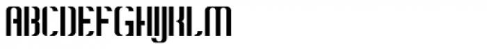 Konstructa Humana Stencil Light Font UPPERCASE