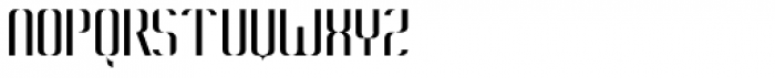 Konstructa Humana Stencil Thin Font UPPERCASE