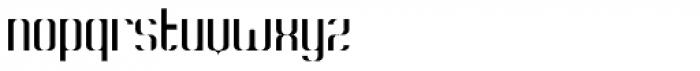 Konstructa Humana Stencil Thin Font LOWERCASE