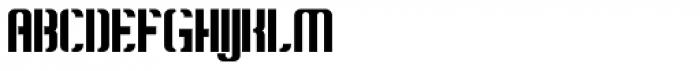 Konstructa Humana Stencil Font UPPERCASE