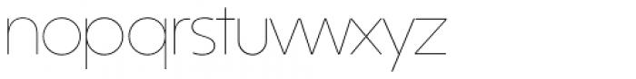 Kontora Thin Font LOWERCASE