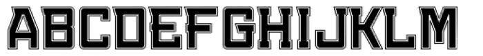 Konvexist Collegiate Font UPPERCASE