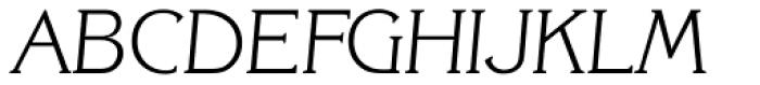 Korinth Serial ExtraLight Italic Font UPPERCASE