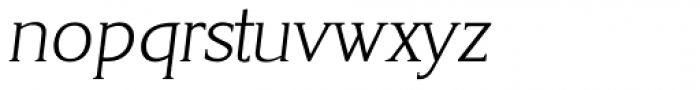 Korinth Serial ExtraLight Italic Font LOWERCASE
