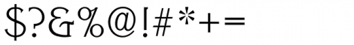Korinth Serial ExtraLight Font OTHER CHARS
