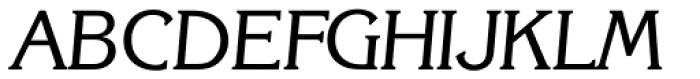 Korinth Serial Italic Font UPPERCASE