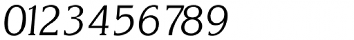 Korinth Serial Light Italic Font OTHER CHARS