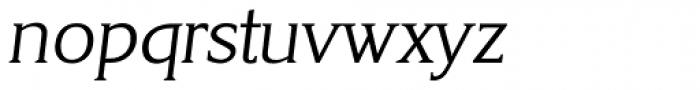 Korinth Serial Light Italic Font LOWERCASE