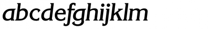 Korinth Serial Medium Italic Font LOWERCASE