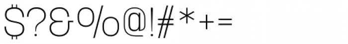 Korolev Alternates Extra Light Font OTHER CHARS