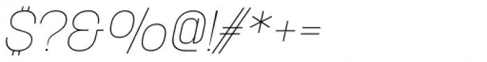 Korolev Alternates Thin Italic Font OTHER CHARS