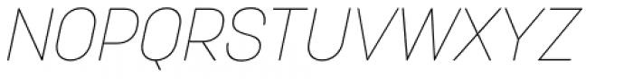 Korolev Alternates Thin Italic Font UPPERCASE