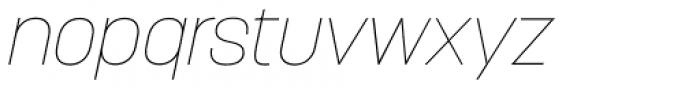 Korolev Alternates Thin Italic Font LOWERCASE