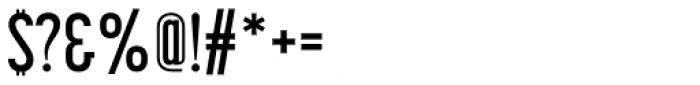 Korolev Compressed Alternates DemiBold Font OTHER CHARS