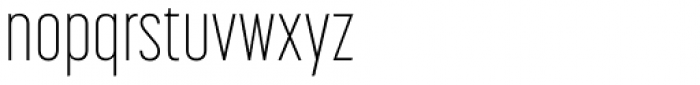 Korolev Compressed Alternates ExtraLight Font LOWERCASE