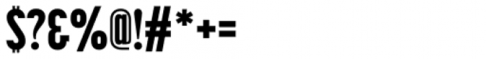 Korolev Compressed Alternates Heavy Font OTHER CHARS