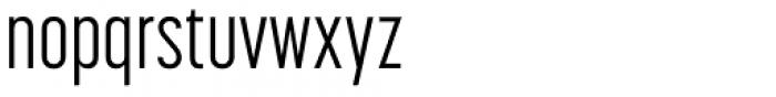 Korolev Compressed Alternates Regular Font LOWERCASE
