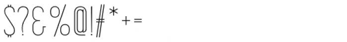 Korolev Compressed Alternates Thin Font OTHER CHARS