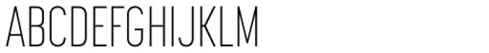 Korolev Compressed ExtraLight Font UPPERCASE