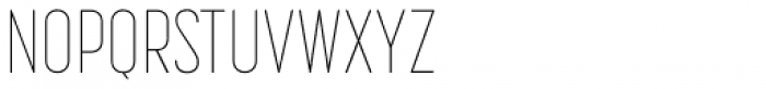 Korolev Compressed Thin Font UPPERCASE