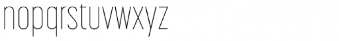 Korolev Compressed Thin Font LOWERCASE