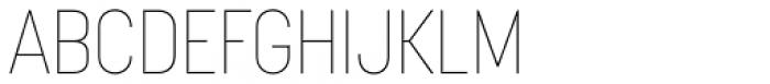 Korolev Condensed Alternates Thin Font UPPERCASE