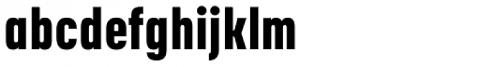 Korolev Condensed Heavy Font LOWERCASE