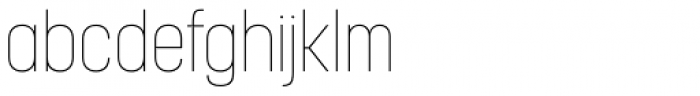 Korolev Condensed Thin Font LOWERCASE