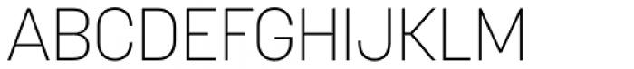 Korolev ExtraLight Font UPPERCASE
