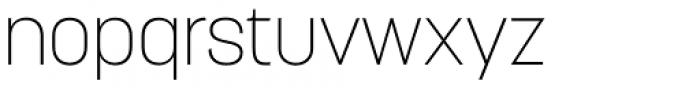 Korolev ExtraLight Font LOWERCASE