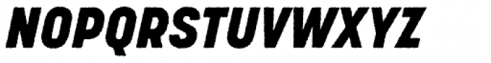 Korolev Rough Heavy Italic Font UPPERCASE