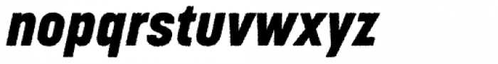 Korolev Rough Heavy Italic Font LOWERCASE