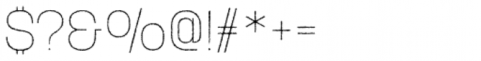 Korolev Rough Thin Font OTHER CHARS