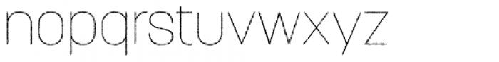 Korolev Rough Thin Font LOWERCASE