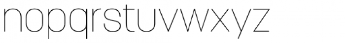 Korolev Rounded Thin Font LOWERCASE