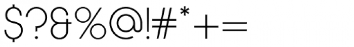 Korto Light Font OTHER CHARS