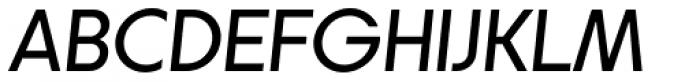 Korto Medium Oblique Font UPPERCASE