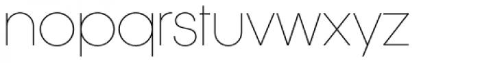 Korto Thin Font LOWERCASE