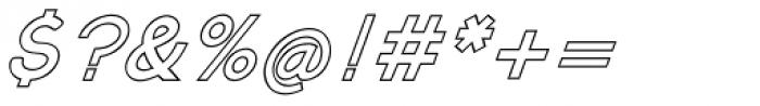 Kosmique Outline Bold Italic Font OTHER CHARS
