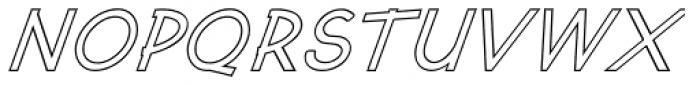 Kosmique Outline Bold Italic Font UPPERCASE