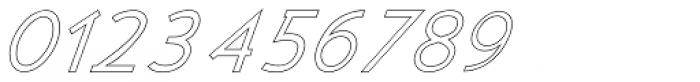 Kosmique Outline Italic Font OTHER CHARS