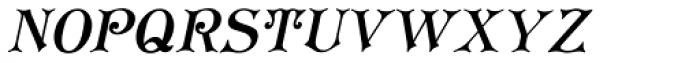 Koster Plain Caps Oblique Font UPPERCASE