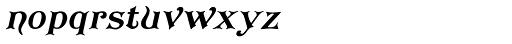 Koster Plain Oblique Font LOWERCASE