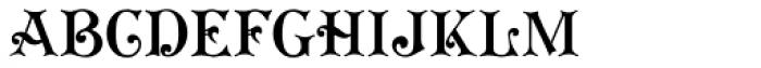 Koster Plain Font UPPERCASE