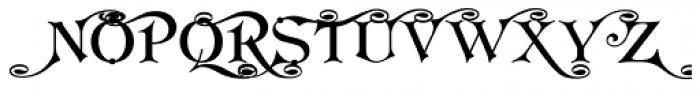 Koster Swash Caps Font UPPERCASE