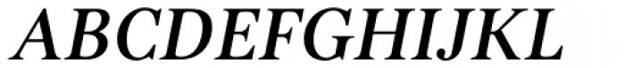 Kostic Serif Medium Italic Font UPPERCASE