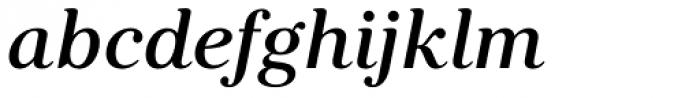 Kostic Serif Medium Italic Font LOWERCASE